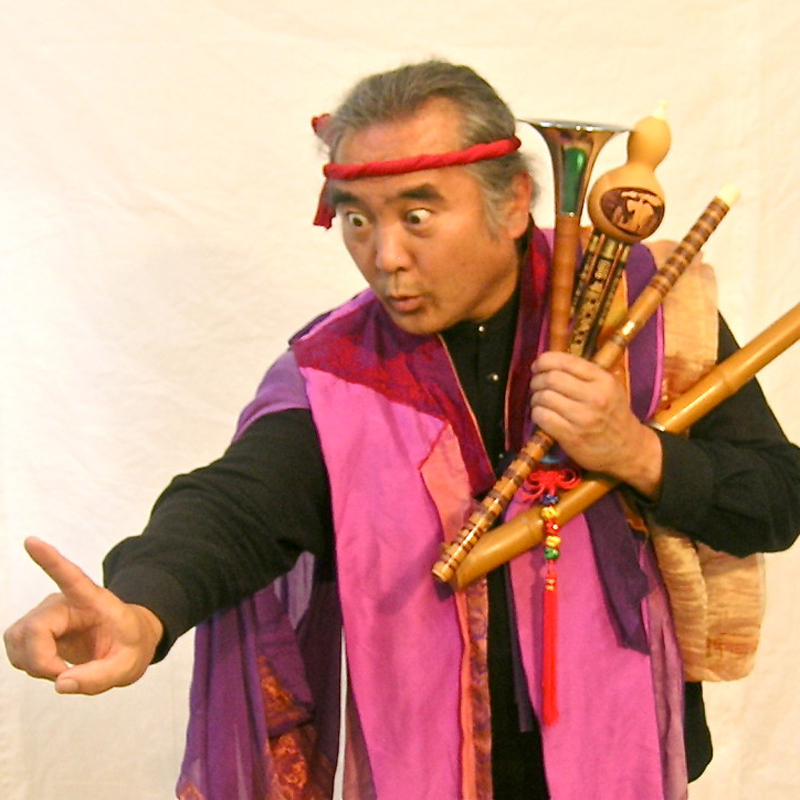 Eth-Noh-Tec performs stories from China, Japan and Korea for school cultural arts assemblies