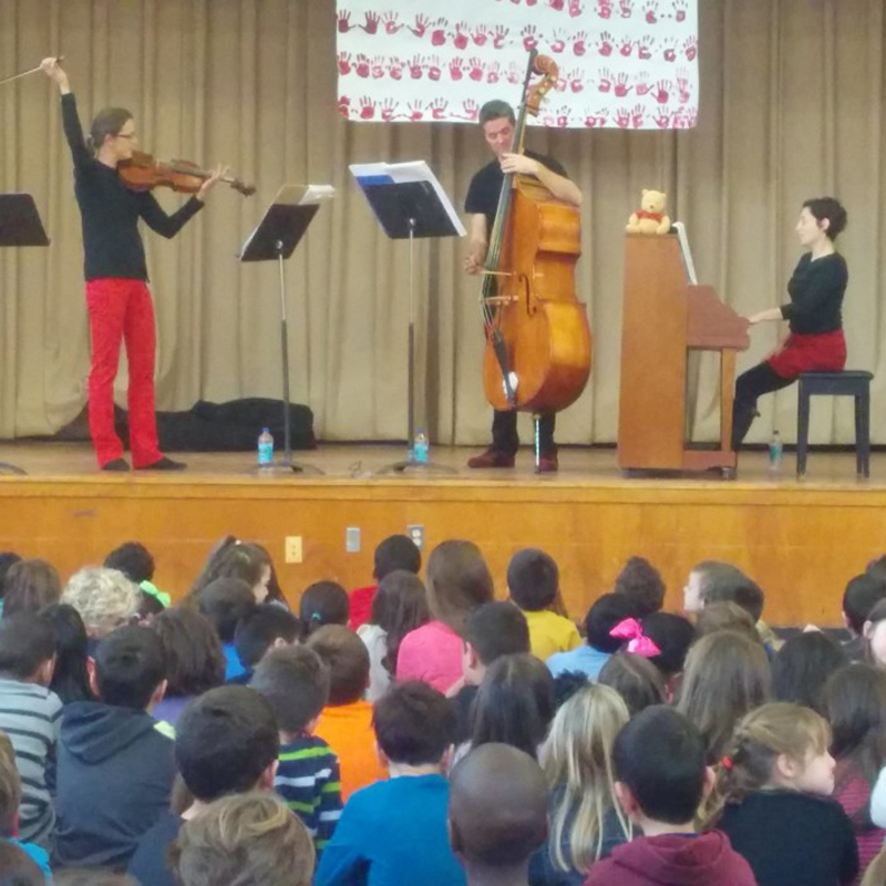 Firebird Ensemble performs contemporary chamber music for school audiences.