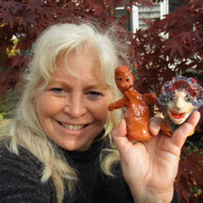 Teaching artist Pam Golden offers clay workshops for schools